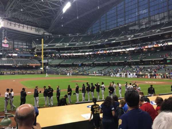 Miller Park, section: 123, row: 10, seat: 6