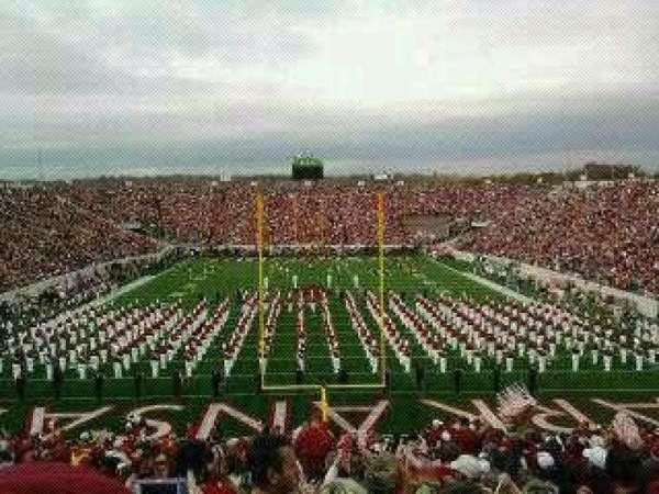 Razorback Stadium, section: D, row: 114, seat: 21