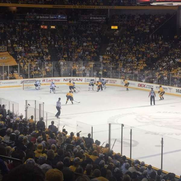 Bridgestone Arena, section: 108, row: K, seat: 14