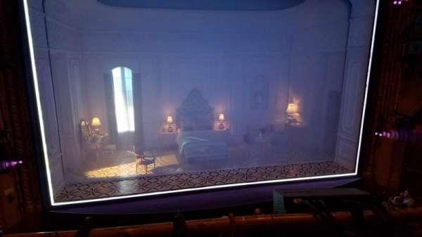 John Golden Theatre, section: Front Mezzanine, row: A, seat: 107