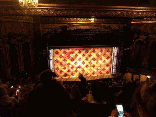 Brooks Atkinson Theatre, section: Rear Mezzanine LC, row: K, seat: 123