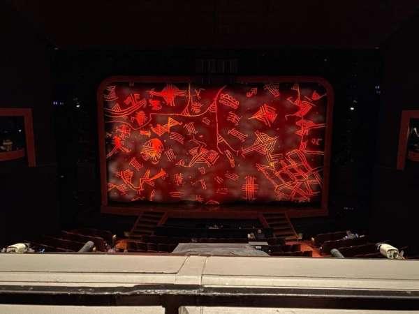 Minskoff Theatre, section: Mezzanine, row: A, seat: 124