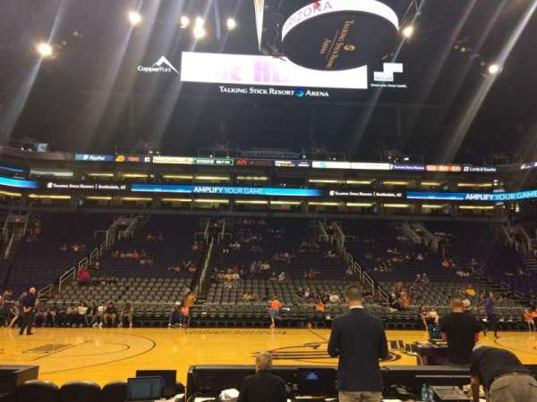 PHX Arena, section: 102, row: 3, seat: 17