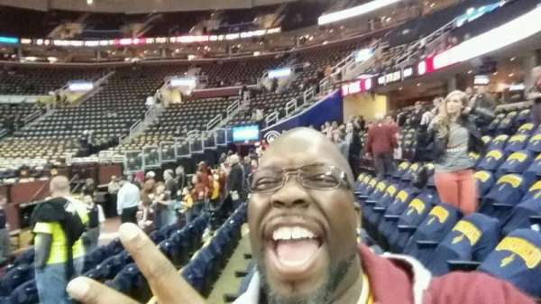 Quicken Loans Arena, section: 127, row: 6, seat: 4