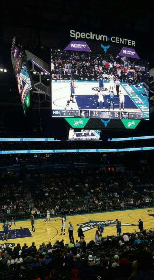 Spectrum Center, section: 106, row: R, seat: 10