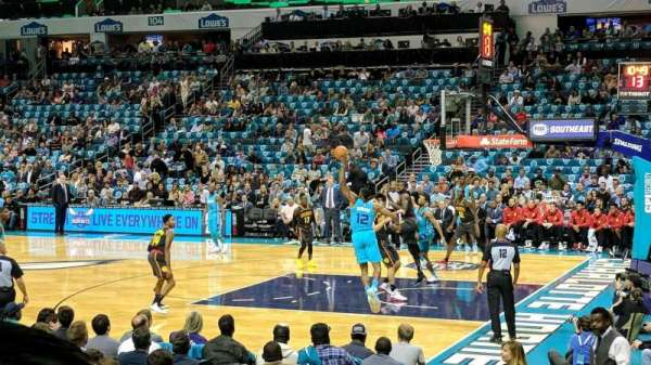 Spectrum Center, section: 112, row: J, seat: 18