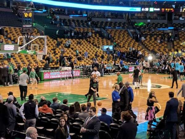 TD Garden, section: Loge 15, row: 5, seat: 3
