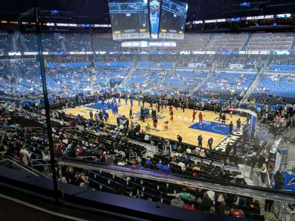 Amway Center, section: Club A, row: 1, seat: 15