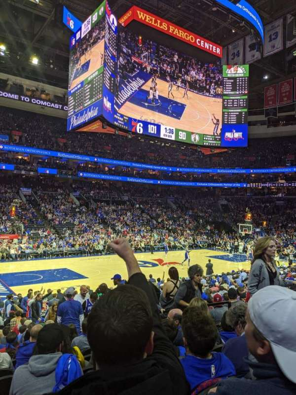 Wells Fargo Center, section: 123, row: 14, seat: 15
