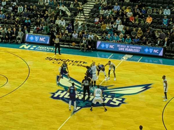 Spectrum Center, section: 224, row: A, seat: 15