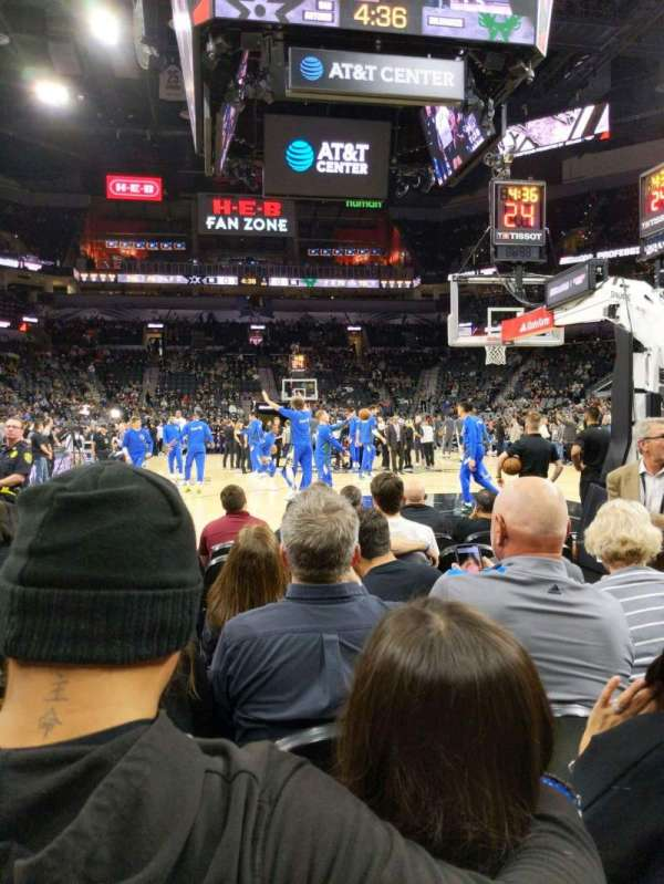 AT&T Center, section: 101, row: 6, seat: 5