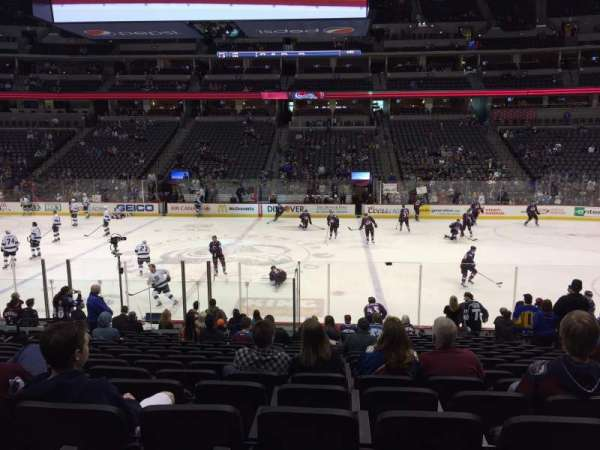 Pepsi Center, section: 124, row: 17, seat: 9