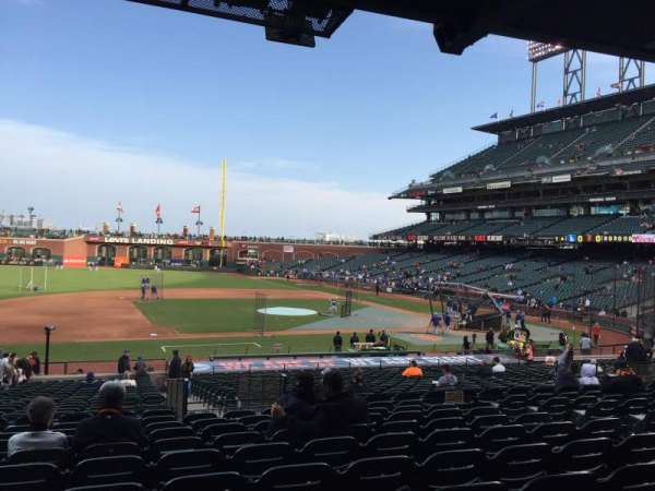 Oracle Park, section: 124, row: 32, seat: 9