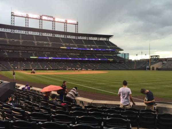 Coors Field, section: 115, row: 8, seat: 1