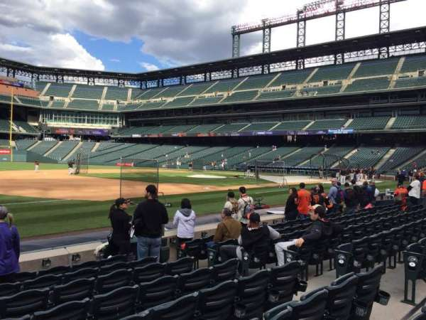 Coors Field, section: 142, row: 8, seat: 8