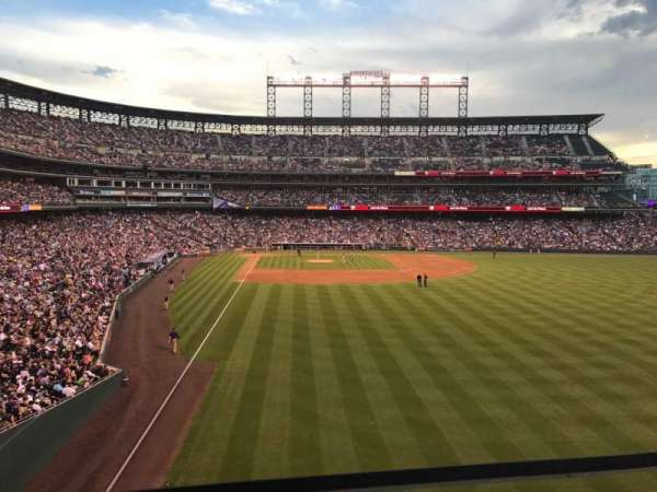 Coors Field, section: 207, row: 1, seat: 22