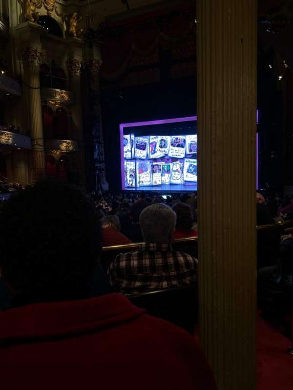 Academy of Music, section: Parquet Circle D, row: V, seat: 14