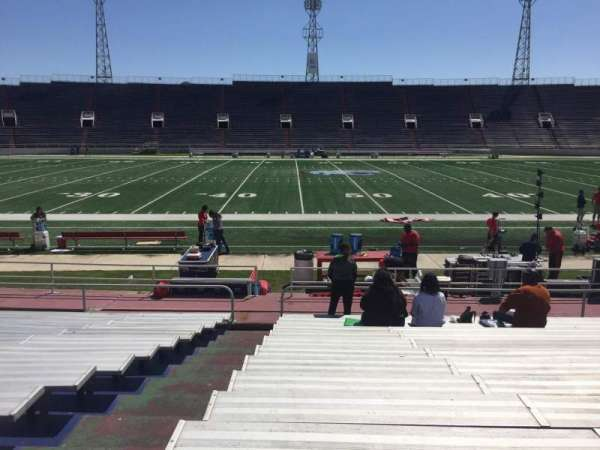Ladd Peebles Stadium, section: F, row: 14, seat: 25