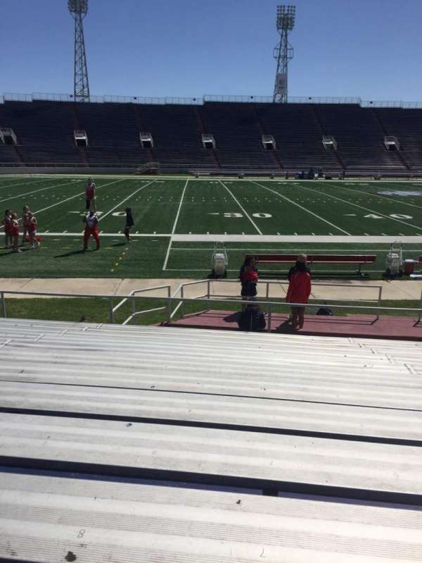 Ladd Peebles Stadium, section: H, row: 12, seat: 8