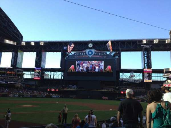 Chase Field, section: H, row: I, seat: 5