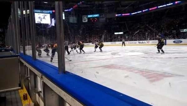 Maverik Center, section: 114, row: 1, seat: 4