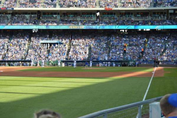 Kauffman Stadium, section: 108, row: L, seat: 5