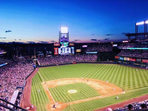 Coors Field, section: U327, row: 11, seat: 15