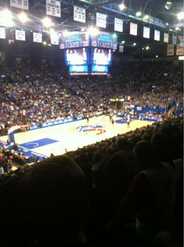 Allen Fieldhouse, section: 9, row: 17, seat: 20