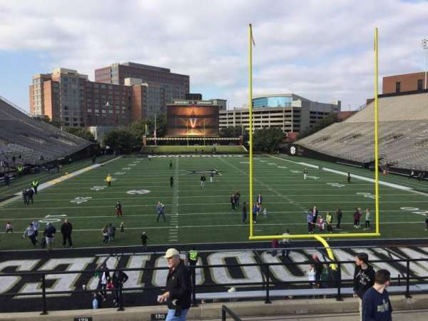 Vanderbilt Stadium, section: K, row: 9, seat: 28