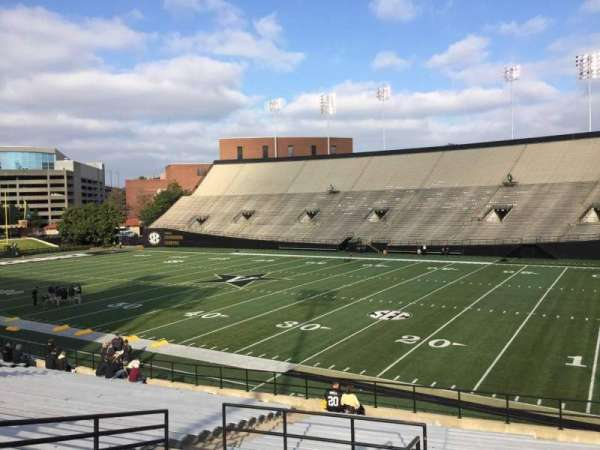 Vanderbilt Stadium, section: G, row: 30, seat: 1