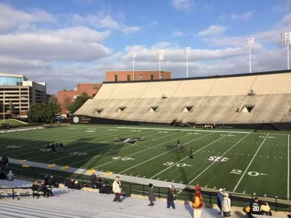 Vanderbilt Stadium, section: F, row: 30, seat: 24
