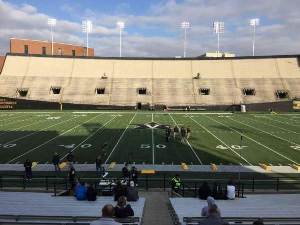 Vanderbilt Stadium, section: D, row: 18, seat: 7