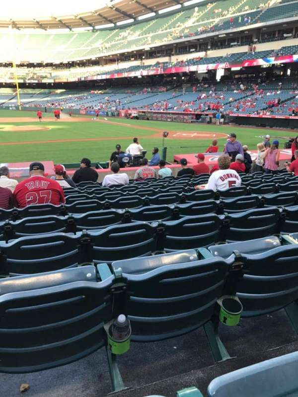 Angel Stadium, section: F112, row: M, seat: 8