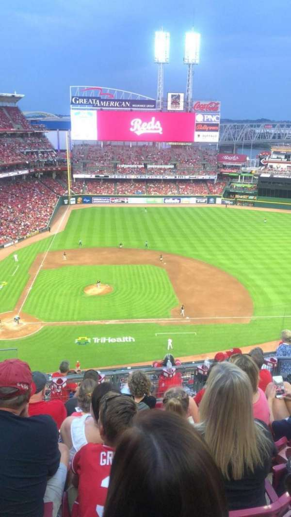 Great American Ball Park, section: 529, row: F, seat: 16