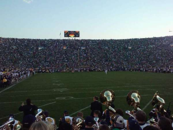 Notre Dame Stadium, section: 2, row: 6, seat: 11