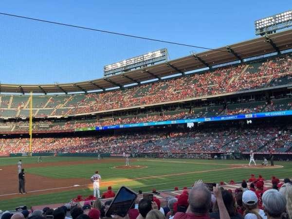 Angel Stadium, section: 110, row: N, seat: 10