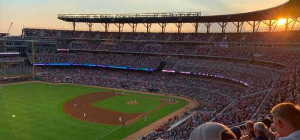 Truist Park, section: 341, row: 12, seat: 17