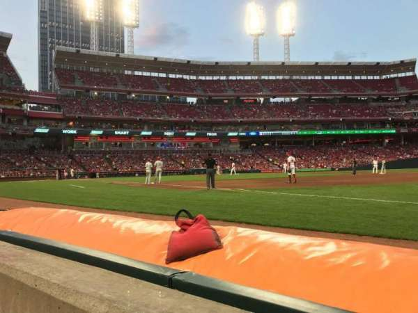 Great American Ball Park, section: 133, row: A, seat: 1