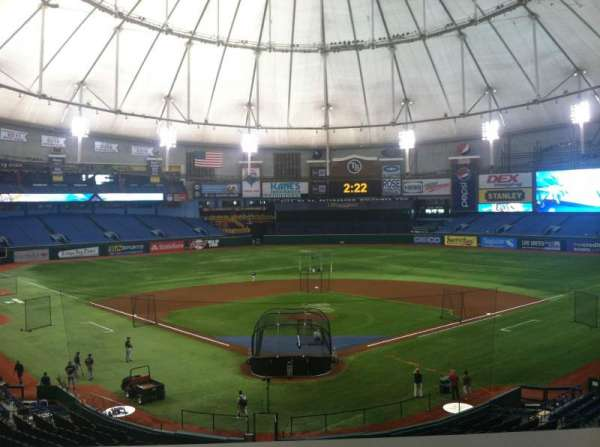 Tropicana Field, section: Press Box