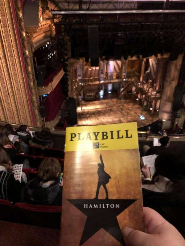 CIBC Theatre, section: Balcony L, row: F, seat: 5