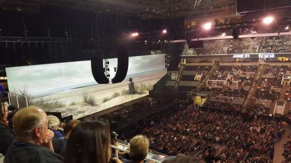 SAP Center, section: 215, row: 6, seat: 2