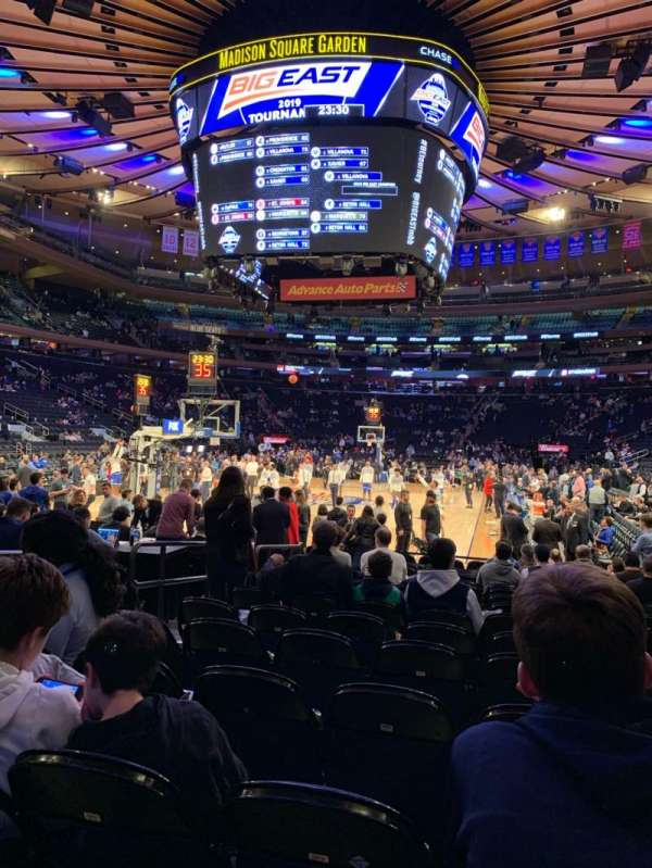 Madison Square Garden, section: 3, row: 15, seat: 5