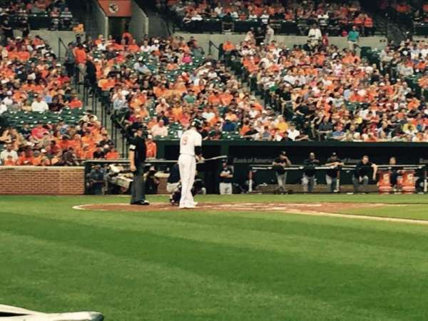 Oriole Park at Camden Yards, section: 18, row: 1, seat: 3