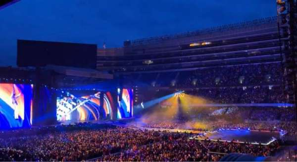 Soldier Field, section: 235, row: 1, seat: 1