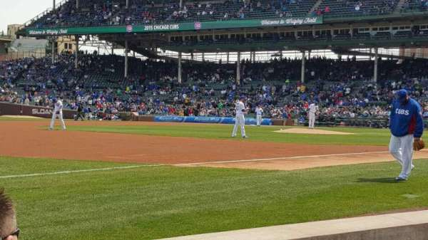 Wrigley Field, section: 8, row: 3, seat: 12