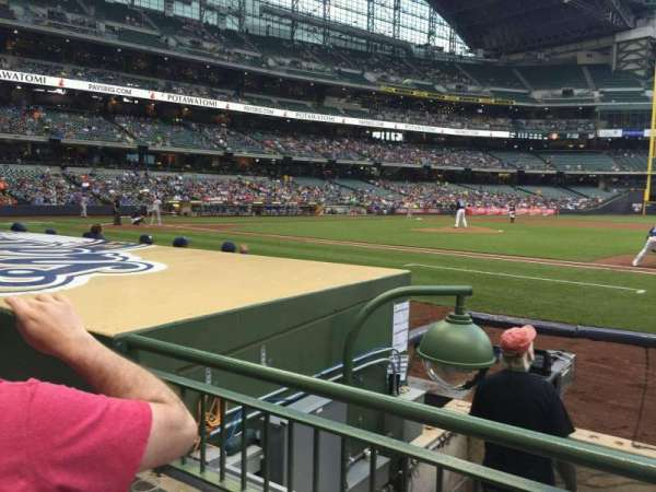 Miller Park, section: 112, row: 5, seat: 6