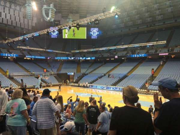 Dean E. Smith Center, section: 129, row: o, seat: 1