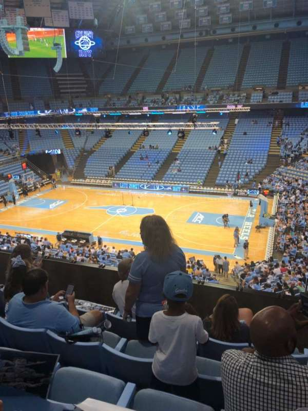Dean E. Smith Center, section: 227, row: D, seat: 5