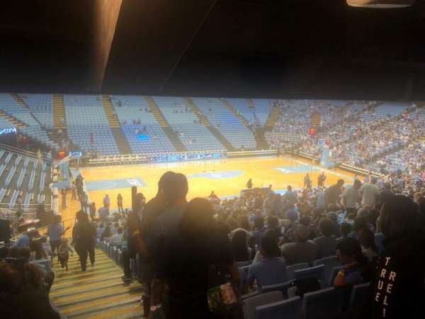 Dean E. Smith Center, section: 123, row: DD, seat: 13