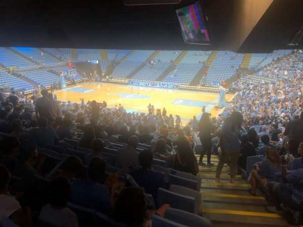 Dean E. Smith Center, section: 128, row: 13, seat: DD
